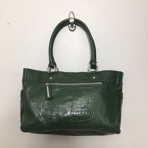 Nine West faux leather snake print bag